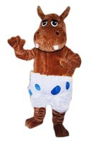 Wholesale Hippo Fancy Dress Costume - Wholesale-Male Hippo mascot costumes 100% real picture adults christmas Halloween Outfit Fancy Dress Suit Free Shipping