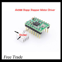 Wholesale-Reprap Stepper Driver A4988 Stepper Motor Driver + Heat Sink with sticker Free Shipping