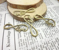 "Wholesale Infinity For Making Jewelry - Wholesale-60pcs bag Fashion newest infinity charms ""hope"" making for infinity symbol jewelry 13*39mm F904"