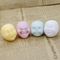 Wholesale human face dolls for sale - Amusing Expression Dolls Creative Design Adult Stress Relieve Novelty Plaything Human Face Vent Ball Anti Stress Ball Toy qh C