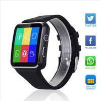 Wholesale luxury watches for kids - X6 Smartwatch Curved Screen Two Colors with TF Card and Camera Fashion Luxury Smart Band Watch for Android and IOS