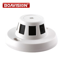 Wholesale Ip Functions - H.264 Covert 2.0MP 1080P Wired IP Camera With HD Onvif P2P Function Security Indoor Network Dome Cameras Smoke Detector Style Hidden