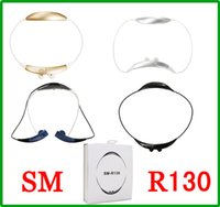 Wholesale Bluetooth Vibrate - Samsung SM-R130 Gear Circle Bluetooth Wireless Stereo Headset Vibrating Headphone Music Sport Neckband SM R130 Earphones for Samsung iPhone