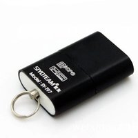 Wholesale Usb Flash Drive China - Mini High Speed USB 2.0 Interface Card Reader Portable Micro SD TF T Flash Alloy Memory Card Reader Adapter Flash Drive