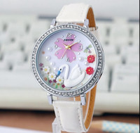 Wholesale Handmade Clay Watches - 2016 hot available Handmade POLYMER CLAY Korea dress leather quartz watch women fashion crystal wristwatch Ladies