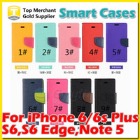 Wholesale case note mercury for sale – best Mercury wallet case Stand flip PU leather For iPhone X s Plus Samsung Galaxy S6 S7 edge Plus Note with opp bags