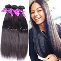 Wholesale Malasian Virgin Hair 14 Inches - Malaysian virgin hair straight hair bundles 6A malasian virgin hair 100g bundle 4 bundles per lot unprocessed remy human hair extensions