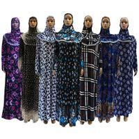 Wholesale Wholesale Muslim Clothing - Beautiful Muslim clothing Prayer Abaya Middle East EID Long Sleeve Cheap's Islamic Prayer Clothing Mixed Color Wholesale