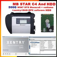 Compra Scanner Diagnostico Mercedes Benz-2017 di alta Qualità obd 2 scanner mb star c4 e 2017 09 500G DTS + vediamo win7 software HDD per mercedes benz sd c4 diagnostica auto