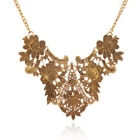 mexican long dresses UK - Lot Flower Statement Necklaces Gold Silver Color Resin Women Party Dress Jewelry Long Pendant Necklace Christmas Gifts