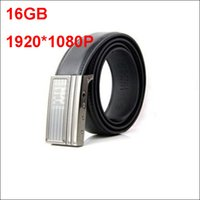Wholesale Hd Spy Camera Belt - Nonporous Leather belt spy Camera belt Mini Hidden Camera Full HD 1080P buit-in 300MAH DVR build 16GB support for work 2 hours