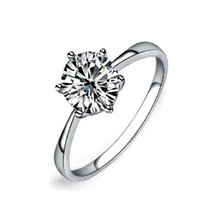 Wholesale large diamond settings resale online - Never fading carat claws large simulated diamond Rings women K white gold filled silver Engagement alliance USA size CZ wedding Ring