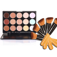 Professionelle Kosmetik Salon / Party 15 Farben Camouflage Palette Gesichtscreme Make-up Concealer Palette Make-up Set Tools mit Pinsel