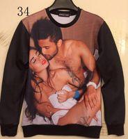 Wholesale Amy Love - w20151223 [Amy]2014 New fashion women men hoodies print sexy men women make love 3d sweatshirt hip hop blouse novelty 3d casual pullover