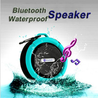 Wholesale wireless center speaker for sale - Mini C6 IPX7 Outdoor Sports Shower Waterproof Wireless Bluetooth Speaker Suction Cup Handsfree MIC Voice Box For iPhone6 Plus HTC Samsung S6