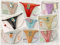 Wholesale C Thong Bikini - 120pcs Sexy underwear women intimates erotic sheer through lace panties cute breifs lingerie sex silk thongs c-string bikini woman- 0012SC