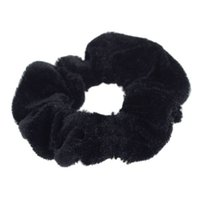 gergin saçlı at kuyruğu toptan satış-Moda Kadife Elastik Scrunchie Donut Kavrama Saç Döngü At Kuyruğu Tutucu Sıkı
