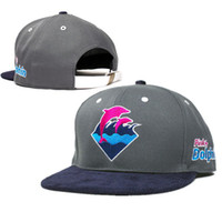 Wholesale Dolphins Hat - 2014 new 1 pcs pink dolphin baseball strapback hats and caps for men adjustable cotton cadet summer sun hat flat brim cap cheap