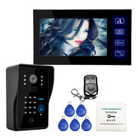"""Wholesale Video Intercom Keypad Systems - Wholesale Wired Touch Key 7"""" Video Door Phone Intercom System 1 RFID Keypad Code Number Doorbell Camera 1 Monitor"""