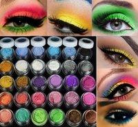 sombra de olho glitter mineral venda por atacado-HOT! 30 cores paleta de sombra de olho em pó colorido maquiagem Mineral glitter sombra em pó profissional frete grátis