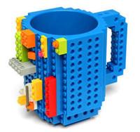 ingrosso tazza di mattoni-Assemblaggio fai-da-te Fai-da-te Tazza di mattoni Bambini Bambini Blocchi di caffè Tazza di caffè Blocco fai-da-te Tazza di puzzle Tazza da bere per PixelBlocks Mega Bloks