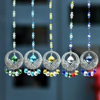 Wholesale pendulum balls - 5PCS 20mm Hanging Window Rainbow Crystal Suncatcher Ball Prisms Feng Shui Pendulum Pendant Home Decor W031-20mm