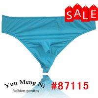 Wholesale String Men Swimwear - Wholesale-g string gay underwear mens thong underwear super thin swimwear fabric men thong 87115