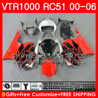 Wholesale rc51 red fairing for sale - Group buy Body For HONDA VTR1000 RC51 SP1 SP2 red Silver NO31 RTV1000 VTR Fairing