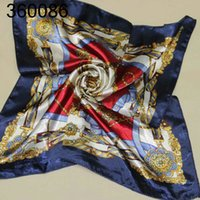 Wholesale Silk Woven Scarves - silk ceremonial scarf printed scarves 50 cm x 50 cm square scarf etiquette360086