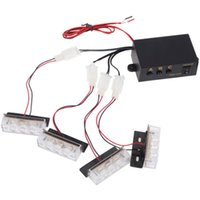 Wholesale 12v Warning Lights - 4x3 LED Strobe Flash Warning Car Truck Light Flashing Firemen Lights 4 * 3