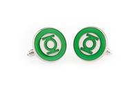Wholesale Green Lantern Cuff Links - green lantern Cufflinks for men shirt cuff link high quanlity men cufflinks wholesale&retail free shipping wish_team W245