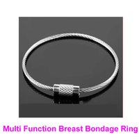Wholesale breast rings sex toys for sale - Group buy 1 Pair Multi Function Breast Bondage Rings Female Boobs Booby Restraint BDSM Bondage Gear Fetish Sex Toy Ankle Wrist Cuffs B0316023