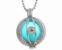 бриллиантовое жемчужное ожерелье оптовых-Lucky Pearl заявление ожерелье выдалбливают вокруг формы с Кристалл CZ Алмазный кулон мода Леди подарок на Рождество Хэллоуин косплей
