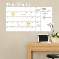 Wholesale wholesale calendar stickers - This Month PVC Pasters Self Adhesive White Calendar Peel Wall Stickers Odourless Strong Viscosity Mould Poof Decal Practical 14dz B