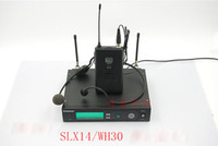 Wholesale Transmitter Receiver Set - 800.000-820.000MHz Wireless Microphone Set( SLX4 receiver+SLX1 transmitter & 1 WH30 headset microphone)For Stage Performance