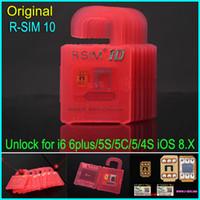 Wholesale Unlock 4s Free - Original Newest Unlock Card R-SIM 10 RSIM 10 R SIM 10 unlock for iphone 6 6plus 5s 5c 5 4s iOS6. X-8.X WCDMA GSM CDMA free shipping DHL