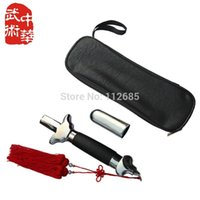 Wholesale Tai Chi Swords - [Maria's store] Best-quality! Retractable stainless steel Tai Chi Sword, Wushu Martial Arts training telescopic bag tassel ^_^