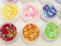 uv jel tencere toptan satış-12 Tencere Kalp Nail Art Glitter Kalp Şekiller Konfeti Sequins Akrilik İpuçları UV Jel Dekorasyon ücreti nakliye DHL # 6811