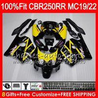 Wholesale Honda Mc19 Fairing - Injection For HONDA CBR 250RR CBR250RR 88 89 90 91 92 93 96HM6 Yellow black MC19 MC22 250 CBR250 RR 1988 1989 1990 1991 1992 1993 Fairing