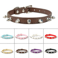 Spiked Studded Leather Dog Puppy Collars Dog Collars Mixed Order