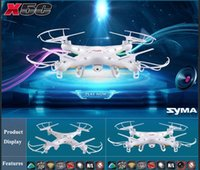 Wholesale Axis 2mp - New Version SYMA X5C X5C-1 2.4GHz 4CH HD FPV Camera 6 Axis RC Helicopter Quadcopter Gyro 2GB TF Card with 2MP Camera RM475