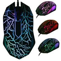 usb ışık gösterisi toptan satış-Sıcak Satış Bir fare tüm renkleri gösterir 2400 DPI 4D düğmeleri led arka ışık fare kablolu oyun faresi USB kablolu oyun fareler için masaüstü ...