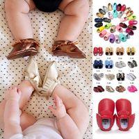 Wholesale Baby Firstwalker - Moccasin Baby shoes -Baby Moccasins Soft Moccs Baby Shoes Newborn Baby firstwalker Anti-slip PU Soft Leather Infant Shoes Footwear