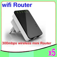 Wholesale Wireless N Wifi Router - Free Shipping 300Mbps Wireless-N Mini Router Internet Connection with WiFi Repeater for Laptop Phone 5PCS YX-YF-01