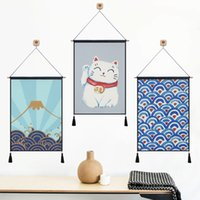 Wholesale Original Handmade Wall Art - Japanese and wind tapestry of original design of cloth art sofa background wall hangs a picture blanket bed wall painting decorative cloth