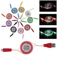 smiling face led flash with best reviews - Colorful Retractable Smile Face 1m LED Light Micro USB Cable Visible Flashing Noodle Data Sync Charger For Samsung S6 HTC 100pcs DHL Free