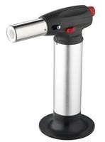 Wholesale torch smoking pipe resale online - Click N Vape sneak A vape sneak a toke smoking metal pipe Vaporizer Wind Proof Torch Lighter gas lighter