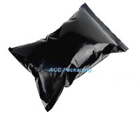 Wholesale Ziplock Plastic Bags 22 - DHL Wholesale 22*32cm Black Zipper Top Ziplock Plastic Bag Self Seal Zip Lock Packing Bag Opaque Reclosable Valve Packaging Pouch Poly Bag