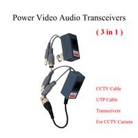 CCTV BNC video Balun UTP Video Balun potere Balun Rj45 passivo, POE Power Video Audio 3 in 1 ricetrasmettitori Ricambi CCTV