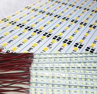 Wholesale 12v rigid strip lights online - 10X SMD LED Bar Light Hard Rigid Strip m LED V Cool Warm White RGB Aluminum Alloy Shell Housing CE RoHS
